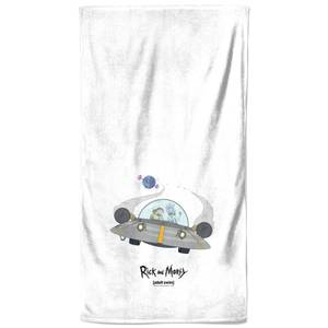 Rick and Morty Spaceship Bath Towel