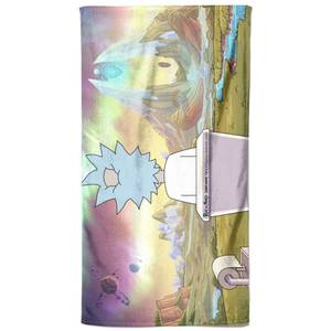 Rick and Morty Toilet Scene Bath Towel
