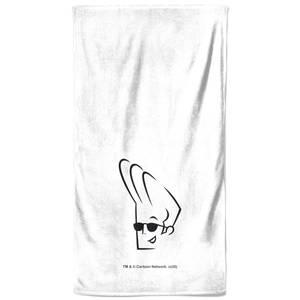 Johnny Bravo Head Bath Towel