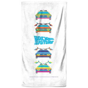Back To The Future Car Print Bath Towel