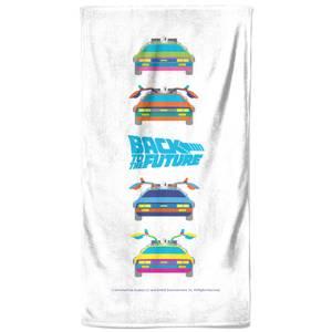 Back To The Future Car Print Bath Towel