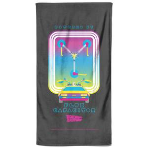 Back To The Future Flux Capacitor Bath Towel