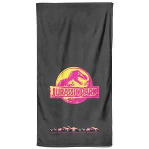 Jurassic Park Neon Logo Bath Towel