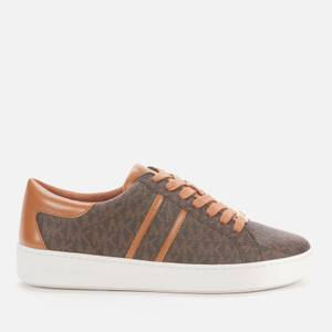 MICHAEL Michael Kors Women's Keaton Stripe Cupsole Trainers - Brown