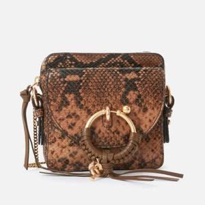 See by Chloé Women's Joan Python Cross Body Bag - Coconut Brown