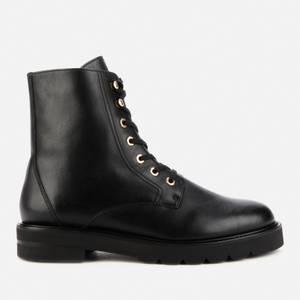 Stuart Weitzman Women's Mila Lift Leather Lace Up Boots - Black