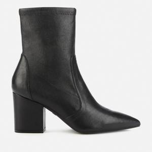 Stuart Weitzman Women's Vernell 75 Leather Heeled Boots - Black