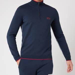 BOSS Athleisure Men's Ziston_S21 Half Zip Jumper - Navy