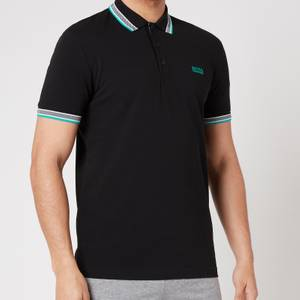 BOSS Athleisure Men's Paddy Pique Polo Shirt - Black/Green