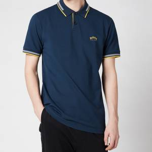 BOSS Athleisure Men's Paul Curved Logo Polo Shirt - Dark Blue