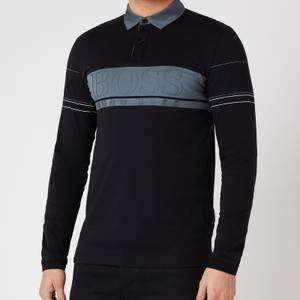 BOSS Athleisure Men's Plisy 1 Longsleeve Polo Shirt - Black