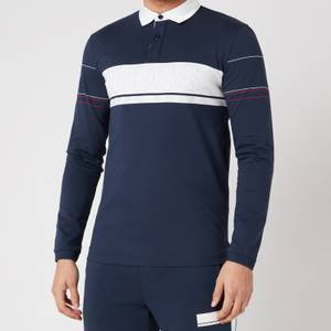 BOSS Athleisure Men's Plisy 1 Longsleeve Polo Shirt - Navy