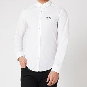 BOSS Athleisure Men's Biado_R Regular Fit Shirt - White