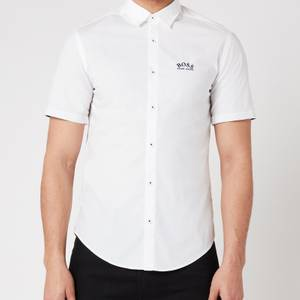 BOSS Athleisure Men's Biadia_R Short Sleeve Shirt - White