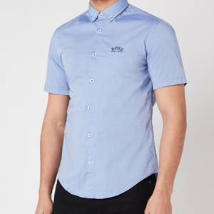 BOSS Athleisure Men's Biadia_R Short Sleeve Shirt - Blue