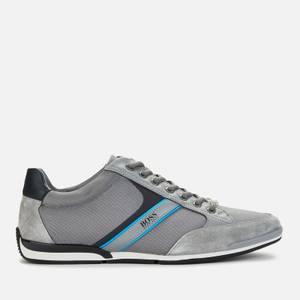 BOSS Athleisure Men's Saturn Low Trainers - Medium Grey