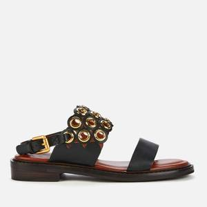 See By Chloé Women's Steffi Leather Flat Sandals - Black