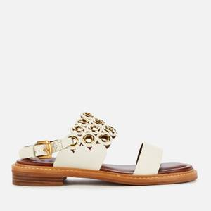See By Chloé Women's Steffi Leather Flat Sandals - Cream