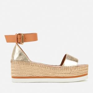 See By Chloé Women's Glyn Flatform Espadrille Sandals - Light Gold