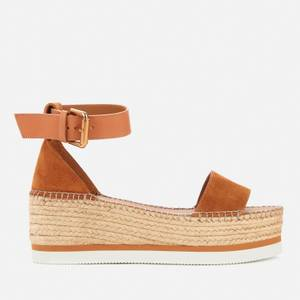 See By Chloé Women's Glyn Flatform Espadrille Sandals - Light Pastel Brown