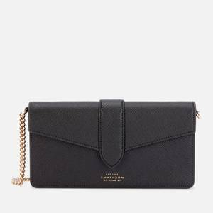 Smythson Women's Panama Purse with Chain Strap - Black