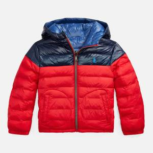 Polo Ralph Lauren Boys' Reversible Puffer Jacket - Red/Newport Navy