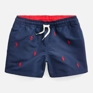 Polo Ralph Lauren Boys' Recycled Swimshorts - Newport Navy/Red