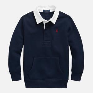 Polo Ralph Lauren Boys' Long Sleeve Rugby Top - Cruise Navy