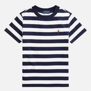 Polo Ralph Lauren Boys' Short Sleeved T-Shirt - White/French Navy
