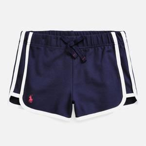 Polo Ralph Lauren Girls' Side Stripe Shorts - Navy