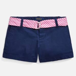 Polo Ralph Lauren Girls' Belted Shorts - Navy