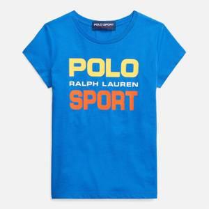 Polo Ralph Lauren Girls' Graphic Logo T-Shirt - Blue