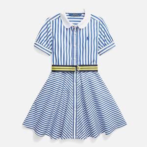 Polo Ralph Lauren Girls' Oxford Shirt-Dress - Blue