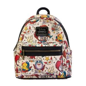 Loungefly Disney The Little Mermaid Tattoo AOP Mini Faux Leather Backpack