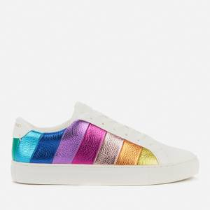 Kurt Geiger London Women's Lane Stripe Leather Cupsole Trainers - Multi