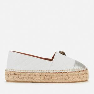 Kurt Geiger London Women's Morella Eagle Leather Espadrilles - White
