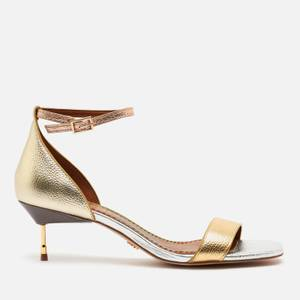 Kurt Geiger London Women's Birchin Leather Kitten Heels - Metal Comb