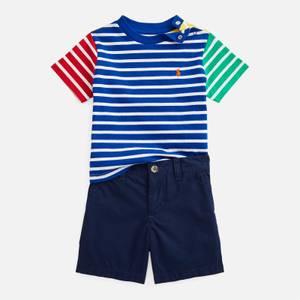 Polo Ralph Lauren Boys' Jersey Shorts Set - Sapphire Star Multi