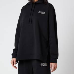 Ganni Women's Software Isoli Hooded Sweatshirt - Black