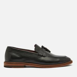 Walk London Men's West Leather Loafers - Black