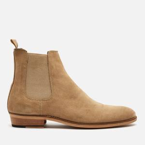 Walk London Men's Michael Suede Chelsea Boots - Stone