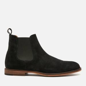 Walk London Men's Carter Suede Chelsea Boots - Black