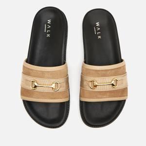 Walk London Men's Ronny Trim Slide Sandals - Stone