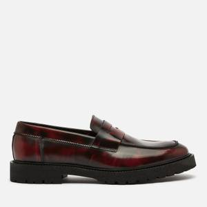 Walk London Men's Hen Leather Penny Loafers - Burgundy