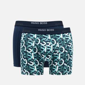 BOSS Bodywear Men's Print Boxer Briefs Two Pack - Open Blue