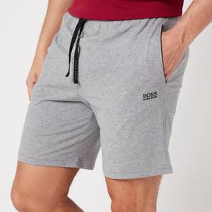 BOSS Loungewear Men's Mix&Match Shorts with Contrast Waistband - Medium Grey