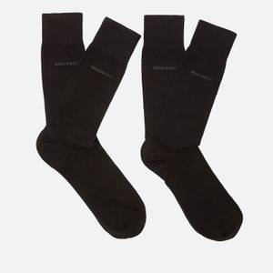BOSS Men's Two Pack Socks Gift Set with Bag - Black