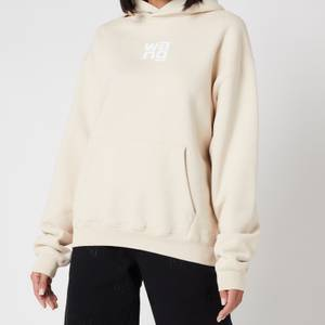 Alexander Wang Women's Garment Washed Hoodie with Wang Puff Print - Turtle Dove