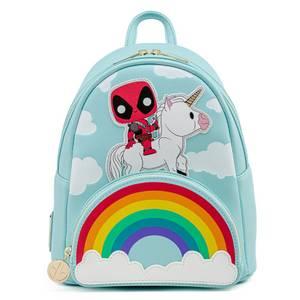 Pop By Loungefly Marvel Deadpool 30th Anniversary Unicorn Rainbow Mini Backpack