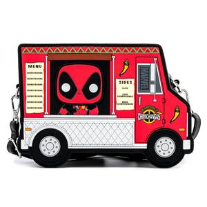 Pop By Loungefly Marvel Deadpool 30th Anniversary Chimichangas Food Truck Crossbody